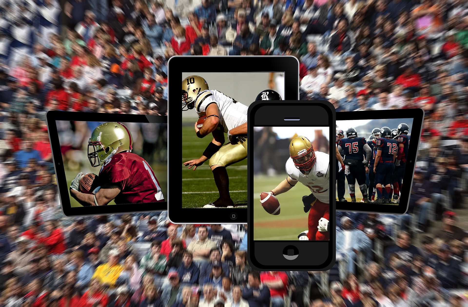 Football devices stock photo