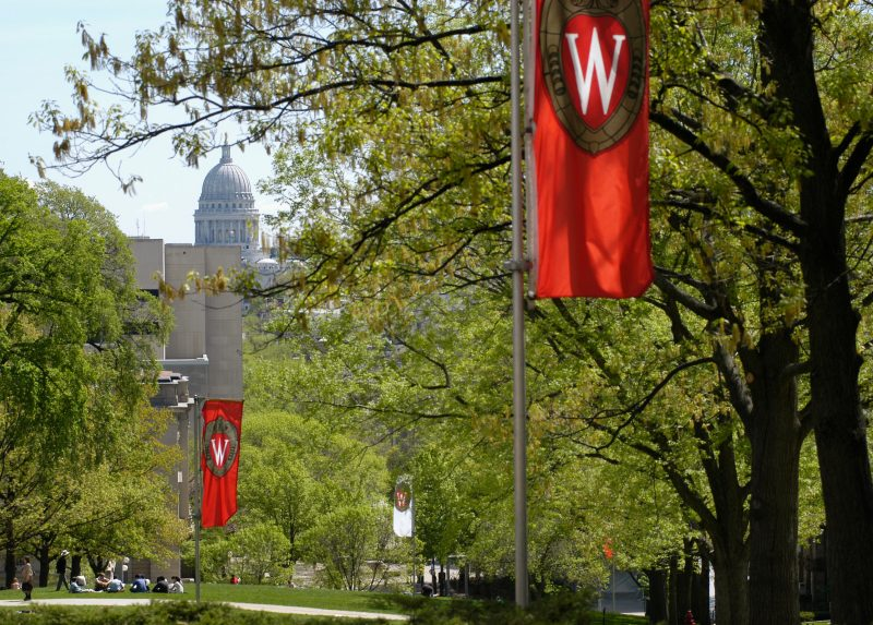 Uw Madisons Science Hall In All Its Red >> School Of Journalism And Mass Communication Uw Madison