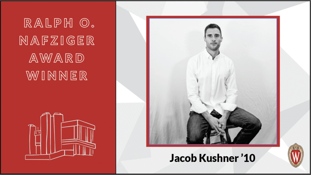 Ralph O. Nafziger Award winner Jacob Kushner