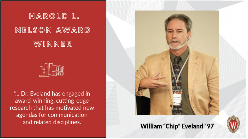 """Harold L. Nelson award winner William """"Chip"""" Eveland"""