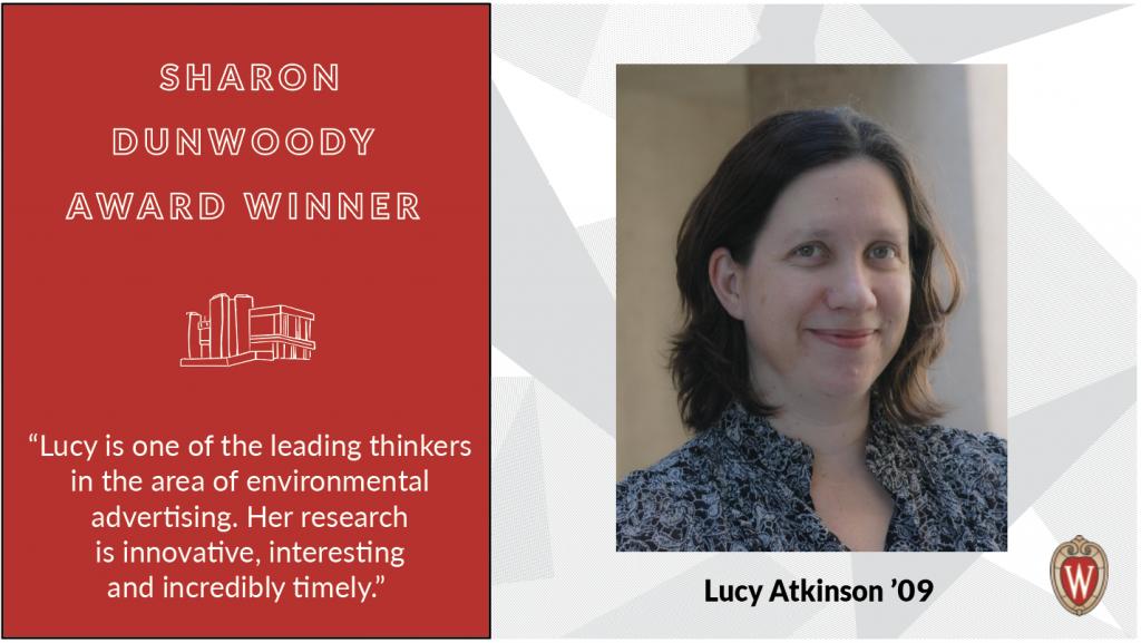 Sharon Dunwoody Award winner Lucy Atkinson