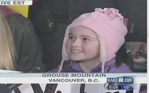 A young Gracie Lund being interviewed by Al Roker in 2010