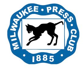 The Milwaukee Press Club logo with an image of a black cat and text