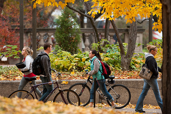 Library Mall in Fall
