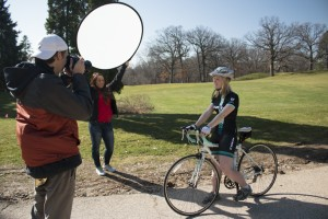 Capstone students shoot photos for Trek ads