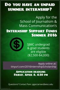 Summer Internship Support 2016