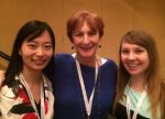 SJMC Faculty Associate Pat Hastings with Kelly Wang and Melissa Behling, 2 of the 3 scholarship winners.